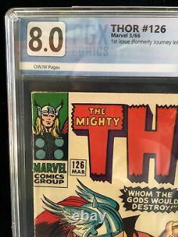 Thor #126 Graded 8.0, First Issue Formerly Journey Into Mystery