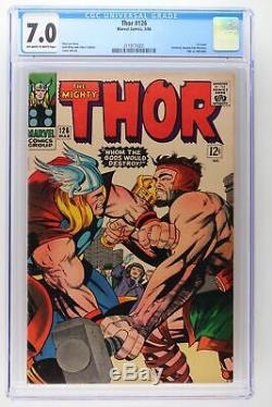 Thor #126 Marvel 1966 CGC 7.0 1st issue. Formerly Journey into Mystery. Thor v