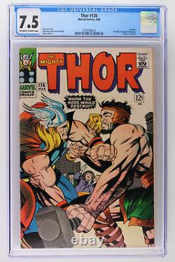 Thor #126 Marvel 1966 CGC 7.5 1st issue! Formerly Journey into Mystery