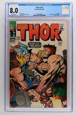 Thor #126 Marvel 1966 CGC 8.0 1st issue. Formerly Journey into Mystery. Thor v
