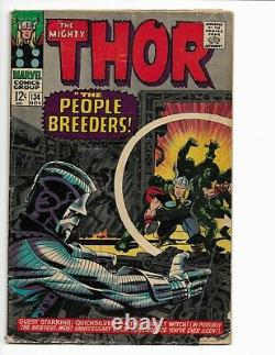 Thor 134 Vg- 3.5 1st Appearance Of The High Evolutionary Galactus (1966)