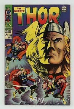 Thor (1962-1996 1st Series Journey Into Mystery) 158 FN+ 6.5 Signed Jack Kirby