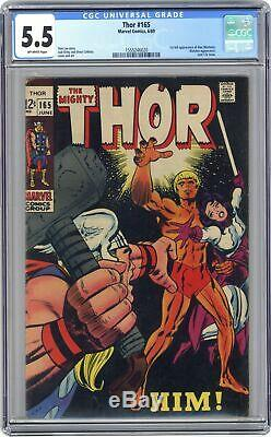Thor (1st Series Journey Into Mystery) #165 1969 CGC 5.5 1555246020
