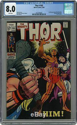 Thor (1st Series Journey Into Mystery) #165 1969 CGC 8.0 2021083002