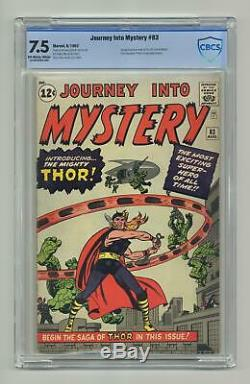 Thor (1st Series Journey Into Mystery) #83 1962 CBCS 7.5