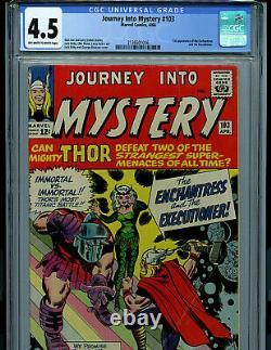 Thor Journey Into Mystery #103 CGC 4.5 Marvel 1964 1st Enchantress Amricons K19
