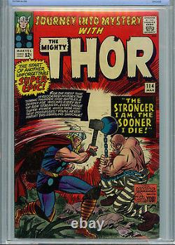 Thor Journey Into Mystery # 114 Marvel CBCS 7.0 FN/VF 1965 1st Absorbing B11