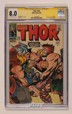 Thor Journey Into Mystery #126 CGC 8.0 SS Stan Lee 1513035013