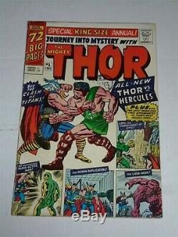 Thor Journey Into Mystery Annual #1 Vg (4.0) Marvel 1965 1st Hercules (rep)
