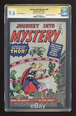 Thor Journey Into Mystery Golden Record Reprint #83COMIC CGC 9.6 SS Stan Lee