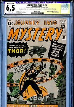 Thor Journey into Mystery 83 CGC 6.5 SS X2 Restored A-3 Stan Lee Lieber Kirby OW