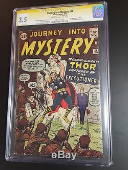 Thor Journey into Mystery 84 CGC 3.5 SS SIGN Stan Lee 2ND APP THOR 1ST JANE FOST