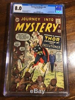 Thor Journey into Mystery 84 CGC 8.0 Stan Lee Excelsior