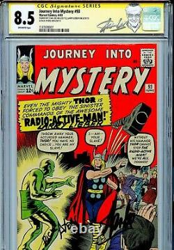 Thor Journey into Mystery 93 CGC 8.5 SS X3 Stan Lee Ayers Leiber Single Highest