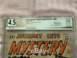 Thor origin Journey Into Mystery 83 4.5 PGX beautiful great gift original Marvel